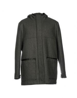 Пальто WEMOTO. Цвет: свинцово-серый