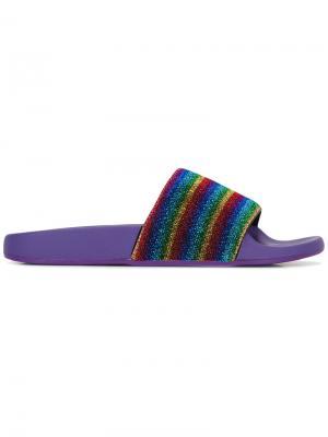 Полосатые сандалии Marc Jacobs. Цвет: многоцветный