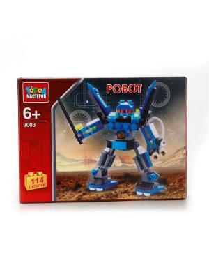 Конструктор Город мастеров Робот.. Цвет: синий, серый
