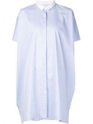 Длинная рубашка в полоску Xiao Li. Цвет: синий