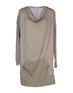 Короткое платье BLEIFREI. Цвет: серый