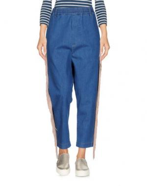 Джинсовые брюки-капри MALPH. Цвет: синий