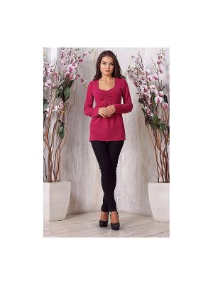 Блузка LIORA. Цвет: розовый