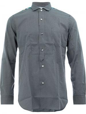 Клетчатая рубашка с контрастной отделкой Junya Watanabe Comme Des Garçons Man. Цвет: чёрный