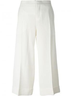 Укороченные брюки Marni. Цвет: телесный