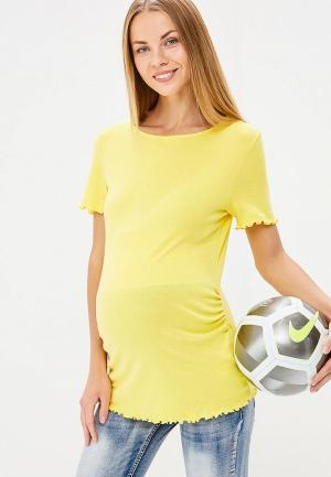 Футболка Dorothy Perkins Maternity. Цвет: желтый