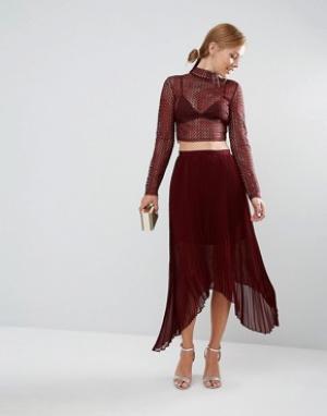 Keepsake Плиссированная юбка Clarity. Цвет: красный