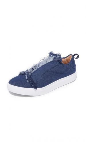 Кроссовки без шнурков с бахромой JAGGAR. Цвет: деним