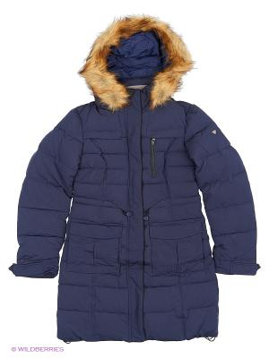 Пальто SNOWIMAGE. Цвет: темно-синий
