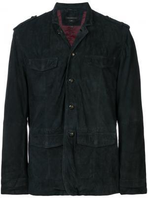 Пиджак с 4 карманами John Varvatos. Цвет: синий