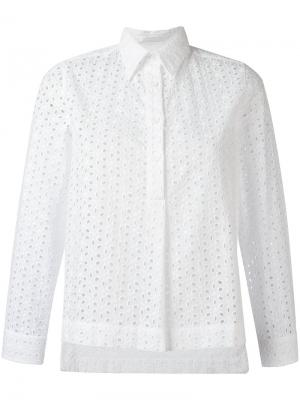 Рубашка с вышивкой Peter Jensen. Цвет: белый