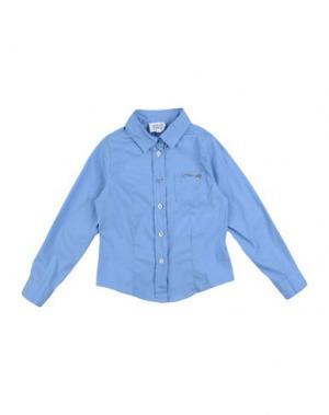 Pубашка ARMANI BABY. Цвет: небесно-голубой