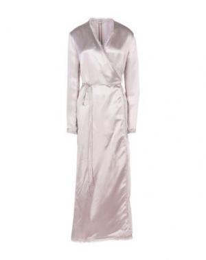 Длинное платье ATTICO. Цвет: светло-розовый