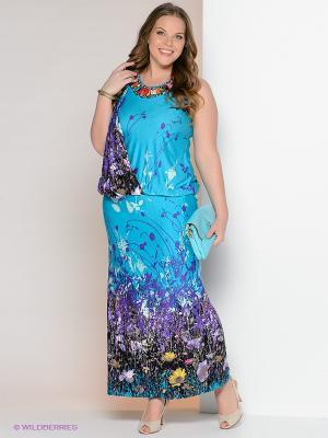 Платье Giani F. Цвет: голубой, фиолетовый