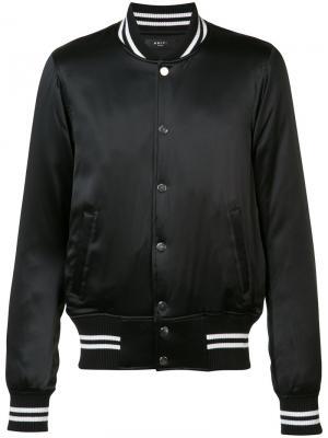Satin bomber jacket Amiri. Цвет: чёрный