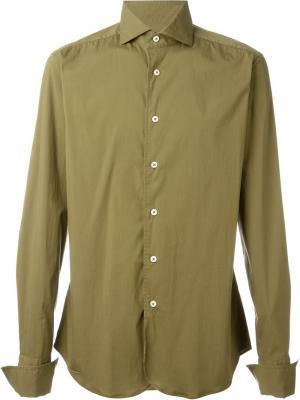 Классическая рубашка Al Duca D'Aosta 1902. Цвет: зелёный
