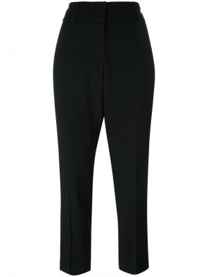 Укороченные брюки кроя слим Dondup. Цвет: чёрный