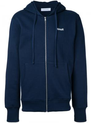 Куртка с капюшоном Futur. Цвет: синий