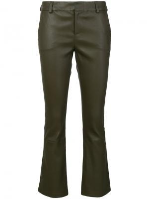 Байкерские брюки скинни Federica Tosi. Цвет: зелёный