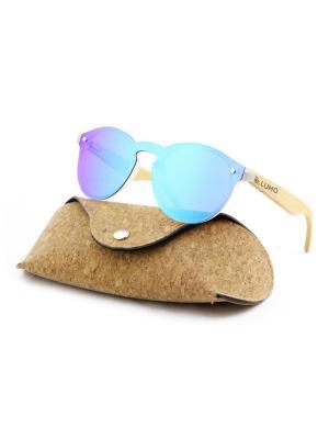Модные солнцезащитные очки Lumo. Цвет: синий
