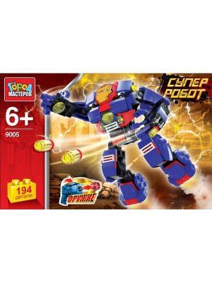 Конструктор Город мастеров Супер робот.. Цвет: синий, красный