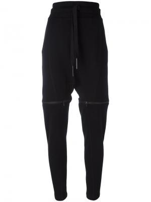 Спортивные брюки с эластичным поясом Barbara I Gongini. Цвет: чёрный