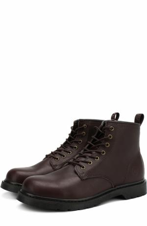 Кожаные ботинки London на шнуровке Affex. Цвет: темно-коричневый