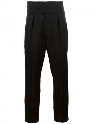 Классические брюки с заниженной проймой Ann Demeulemeester. Цвет: чёрный