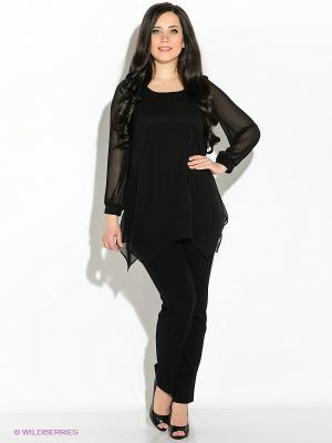 Блузка Vera Mont. Цвет: черный