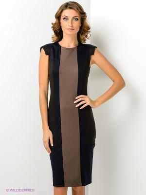 Платье МадаМ Т. Цвет: темно-коричневый, темно-синий