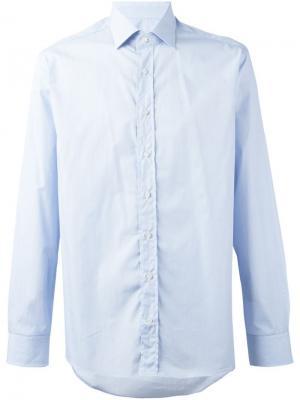 Рубашка с узором Etro. Цвет: синий