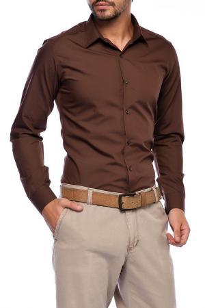 Рубашка Saint loren. Цвет: коричневый