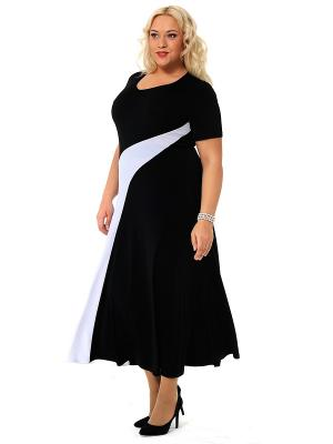 Платье SVESTA. Цвет: черный, белый