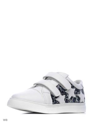 Ботинки Vitacci. Цвет: белый, серебристый, черный