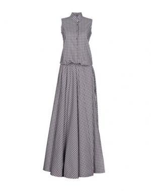 Длинное платье BAD SPIRIT. Цвет: синий