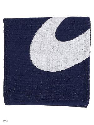 Полотенце ASICS SMALL TOWEL LOGO PRINT. Цвет: темно-синий