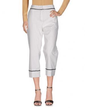 Повседневные брюки NINEMINUTES. Цвет: белый
