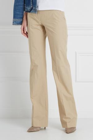 Однотонные брюки Maurizio Pecoraro. Цвет: бежевый