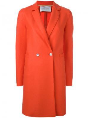 Двубортное пальто Harris Wharf London. Цвет: жёлтый и оранжевый