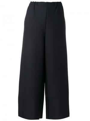 Укороченные широкие брюки Issey Miyake. Цвет: чёрный