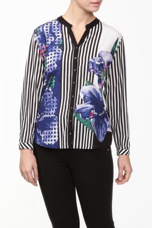 Блуза Grandi. Цвет: черный, белый