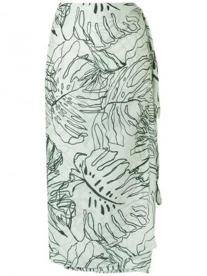 Printed skirt Brigitte. Цвет: зелёный