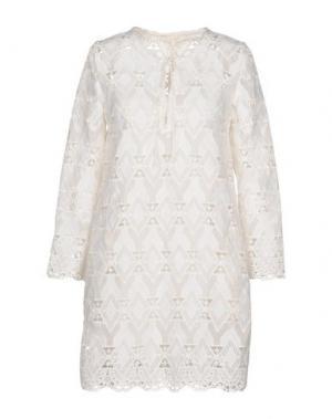 Короткое платье MAJE. Цвет: белый