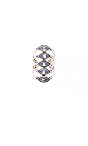 Кольцо giza SunaharA. Цвет: металлический серебряный