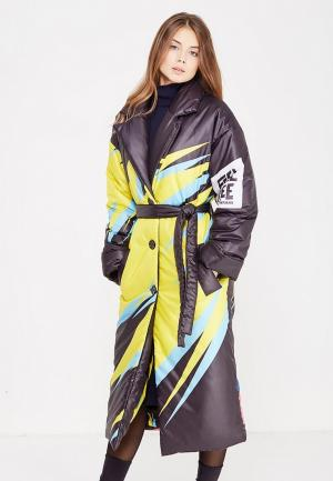 Куртка утепленная Vika Smolyanitskaya. Цвет: разноцветный