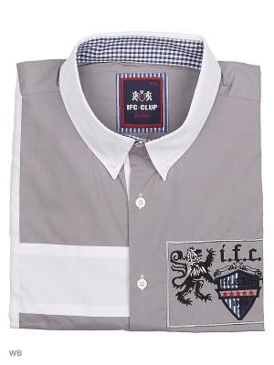 Рубашка IFC. Цвет: светло-серый, белый