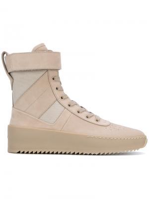 Ботинки в спортивном военном стиле Fear Of God. Цвет: телесный
