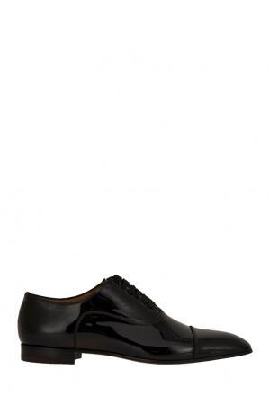 Черные лакированные оксфорды Greggo Flat Christian Louboutin. Цвет: черный