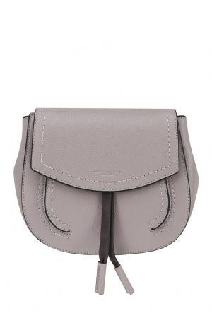 Кожаная сумка Marc Jacobs. Цвет: бежевый