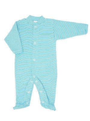 Пижама-комбинезон из органического хлопка Greenera. Цвет: синий